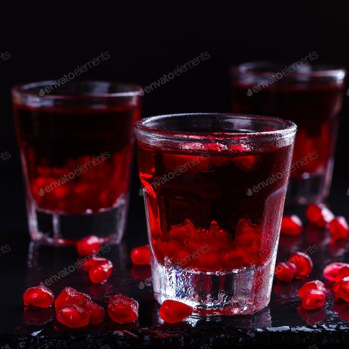 Délicieux cocktail de grenade