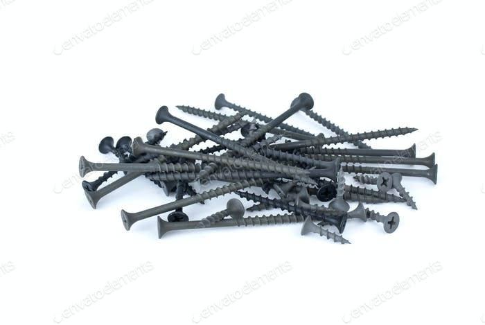 Pile of different wood-screws