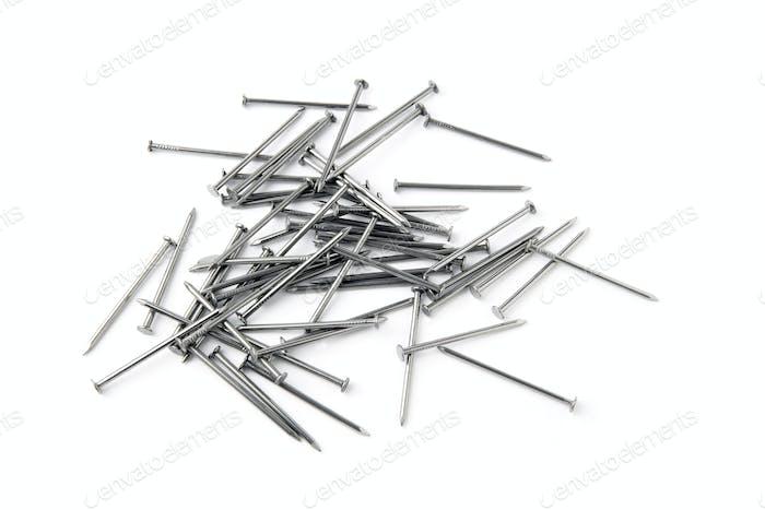Pile of metal nails