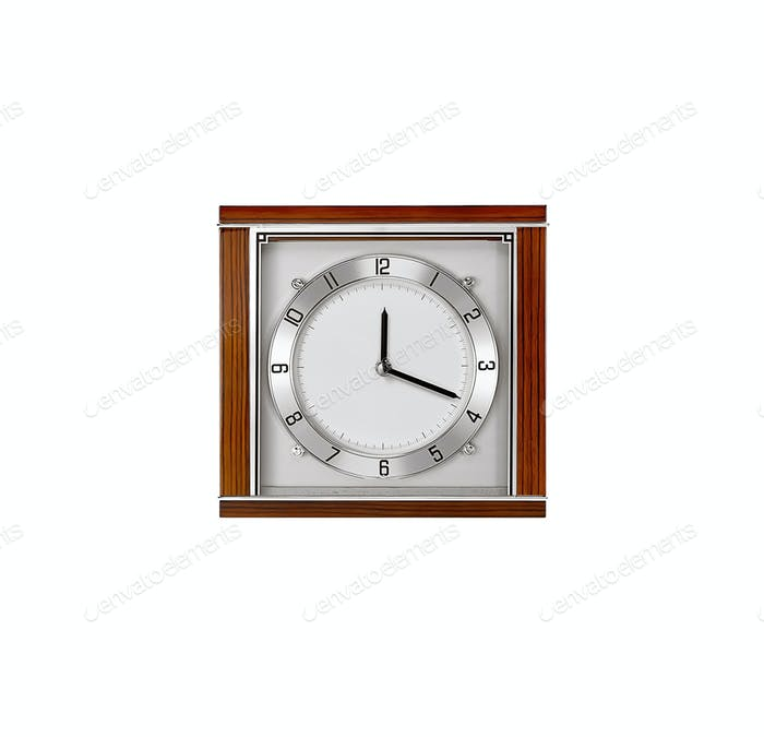 Vintage clock isolated on white background