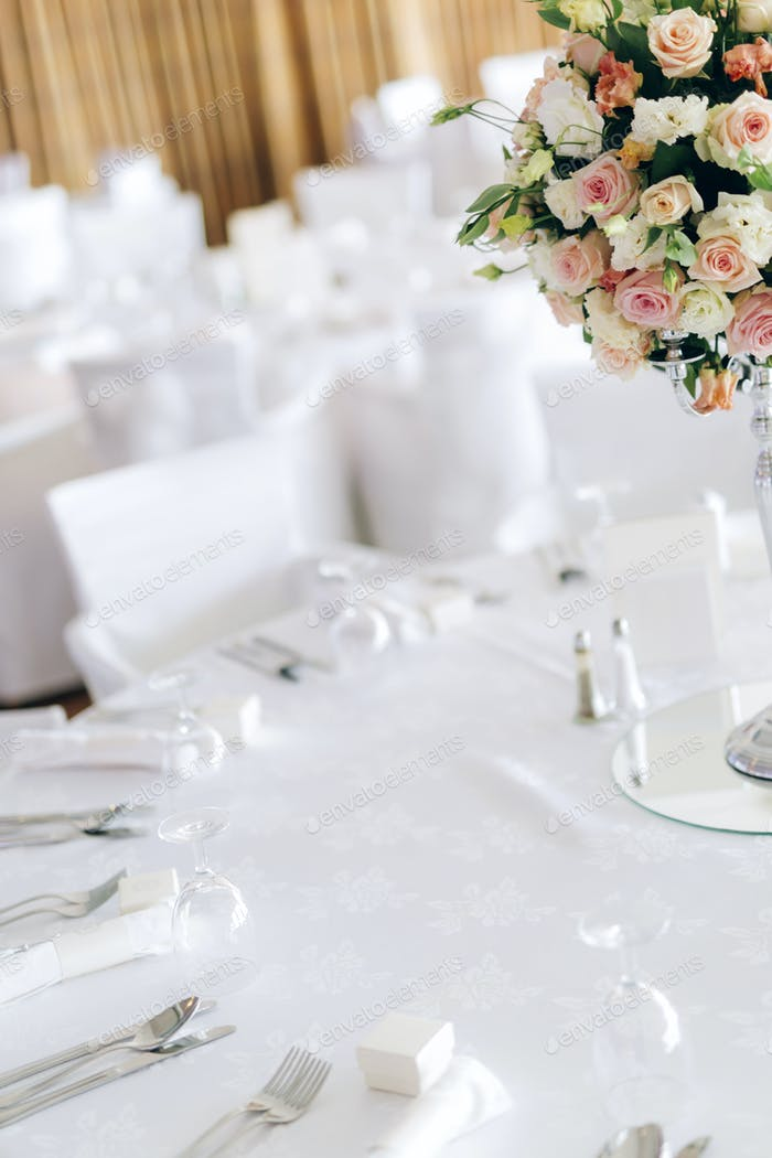 Beautiful decoration on wedding table