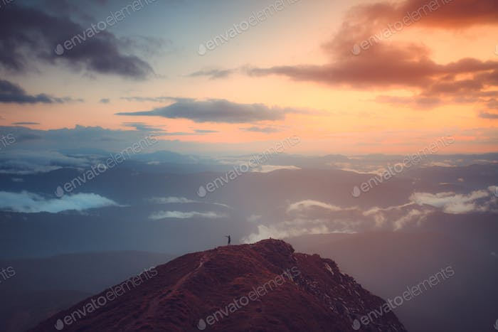view in Carpathians mountains