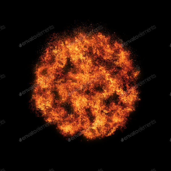 Realistisches Feuerball-Explosionsabfall