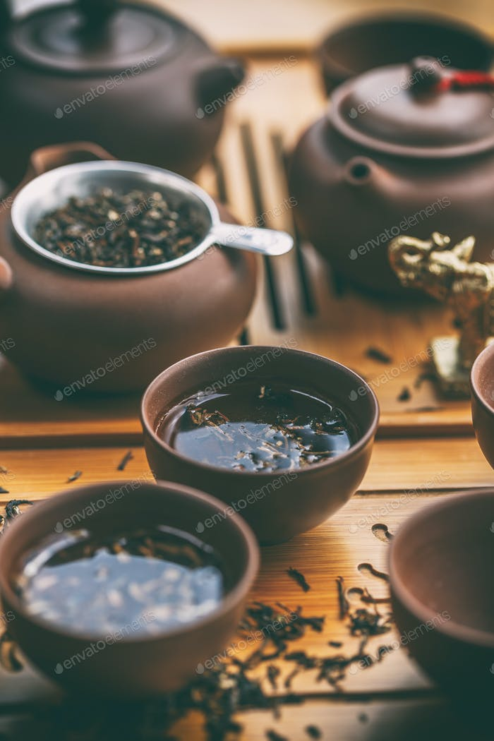 Chinese tea ceremony.