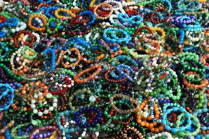 Bracelets on hand. Bijouterie