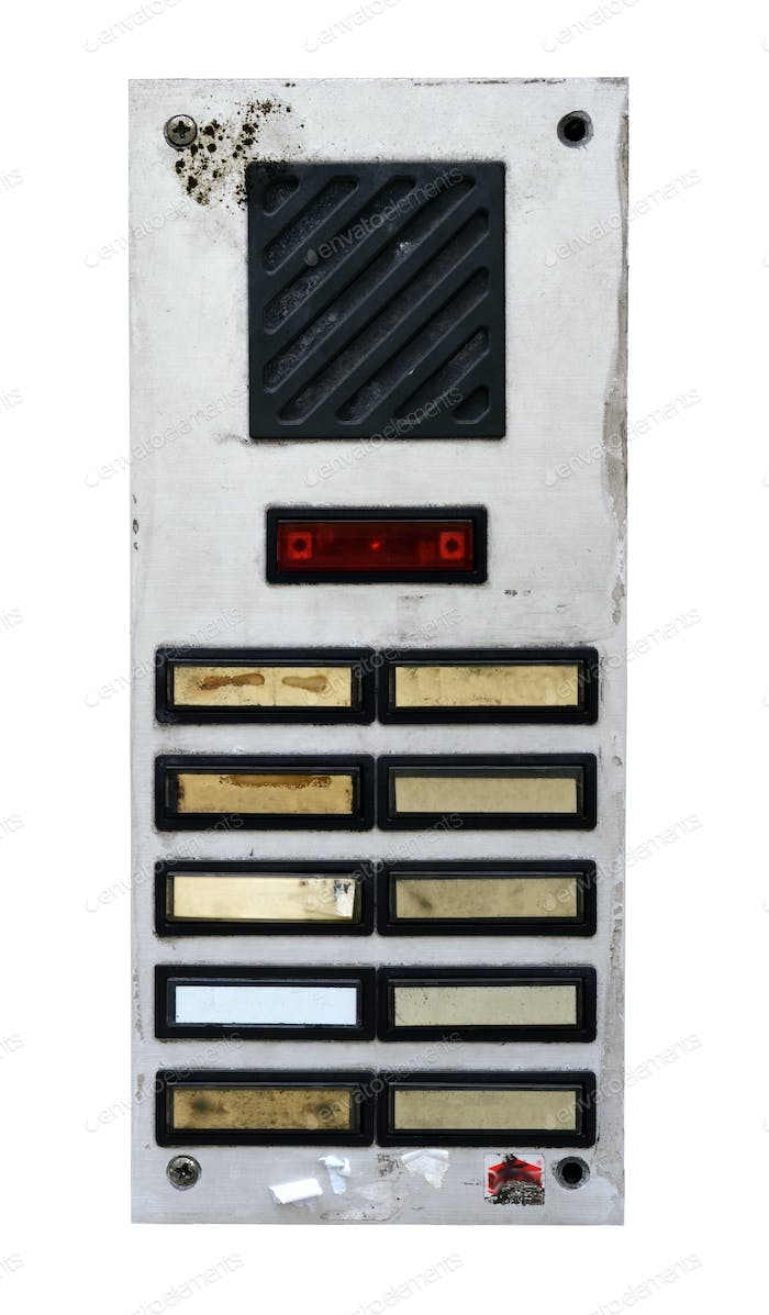 Grungy intercom