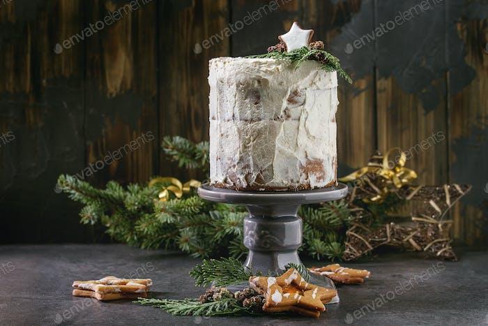 Nackter Weihnachtskuchen