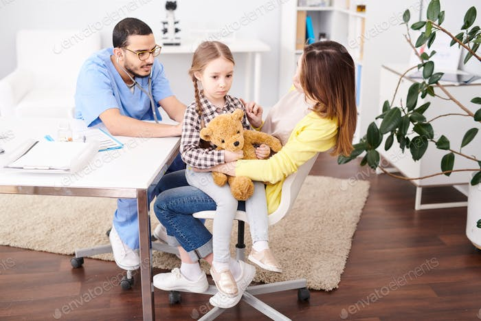 Little Girl Visiting Pediatrician