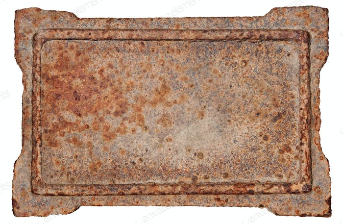 Old Metal Frame, isolated on white background.