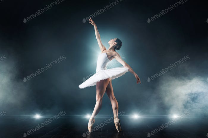 Ballet dancer dancing on the stage in theatre