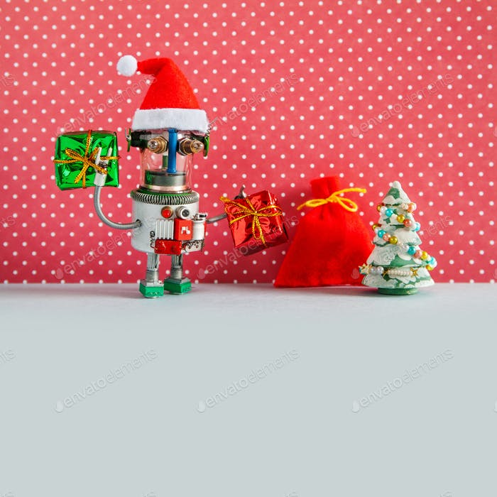 Christmas holidays New Year celebration greeting card template.