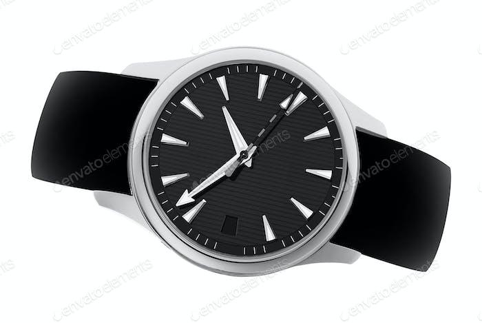 Uhr isoliert auf weißem Hintergrund
