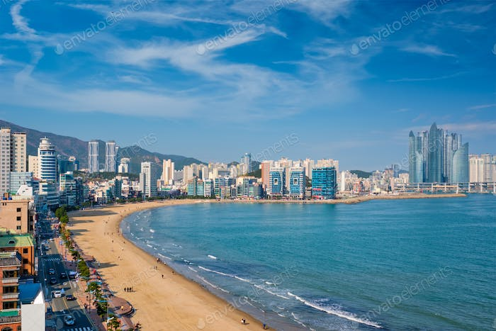 Gwangalli Beach in Busan, South Korea