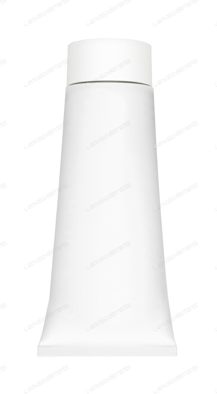 white tube on white background