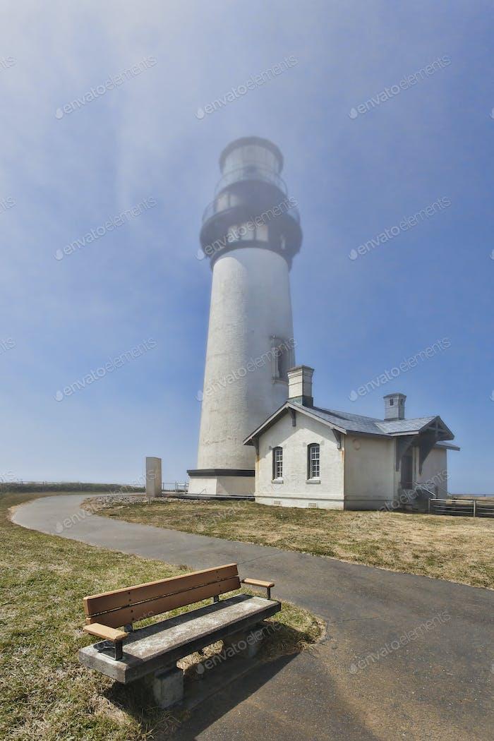54387,Bench outside Yaquina Head Lighthouse, Newport, Oregon, United States