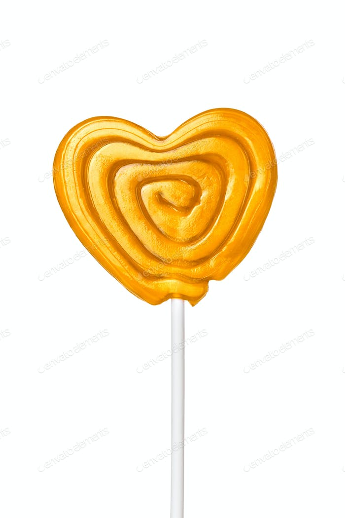 Sweet heart, isolated on white background.