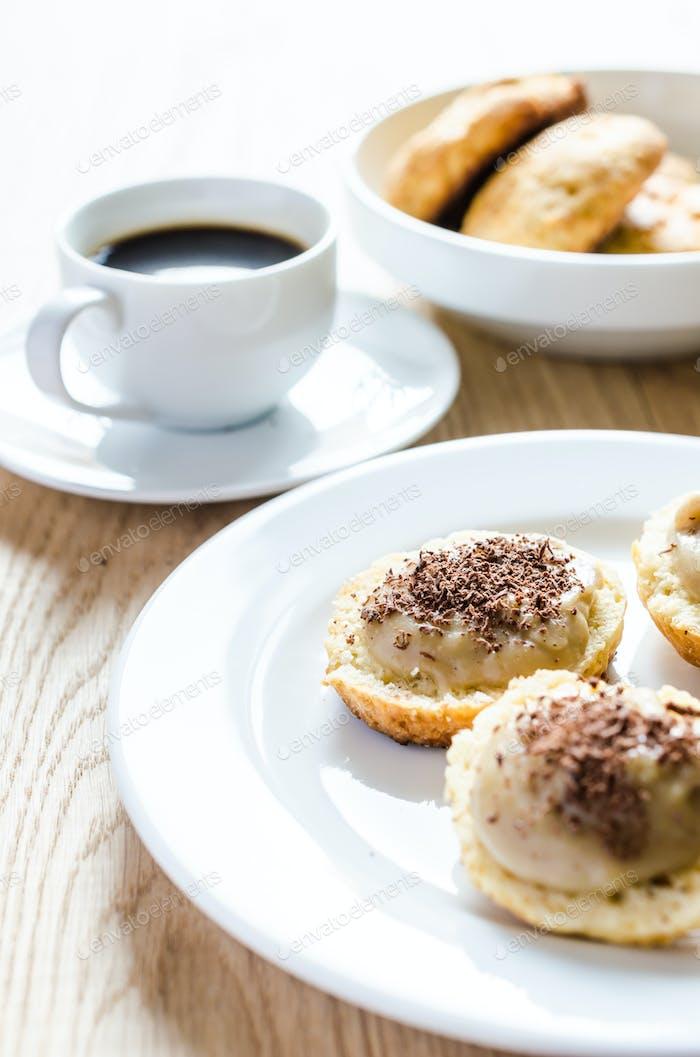 scone with custard