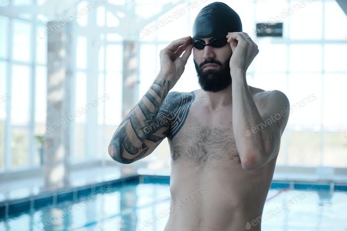 Brutal Schwimmer-Einstellbrille