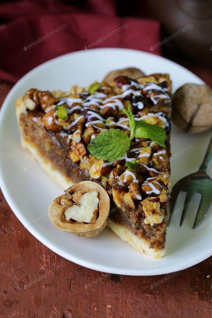 Piece Of Pecan Pie Tart