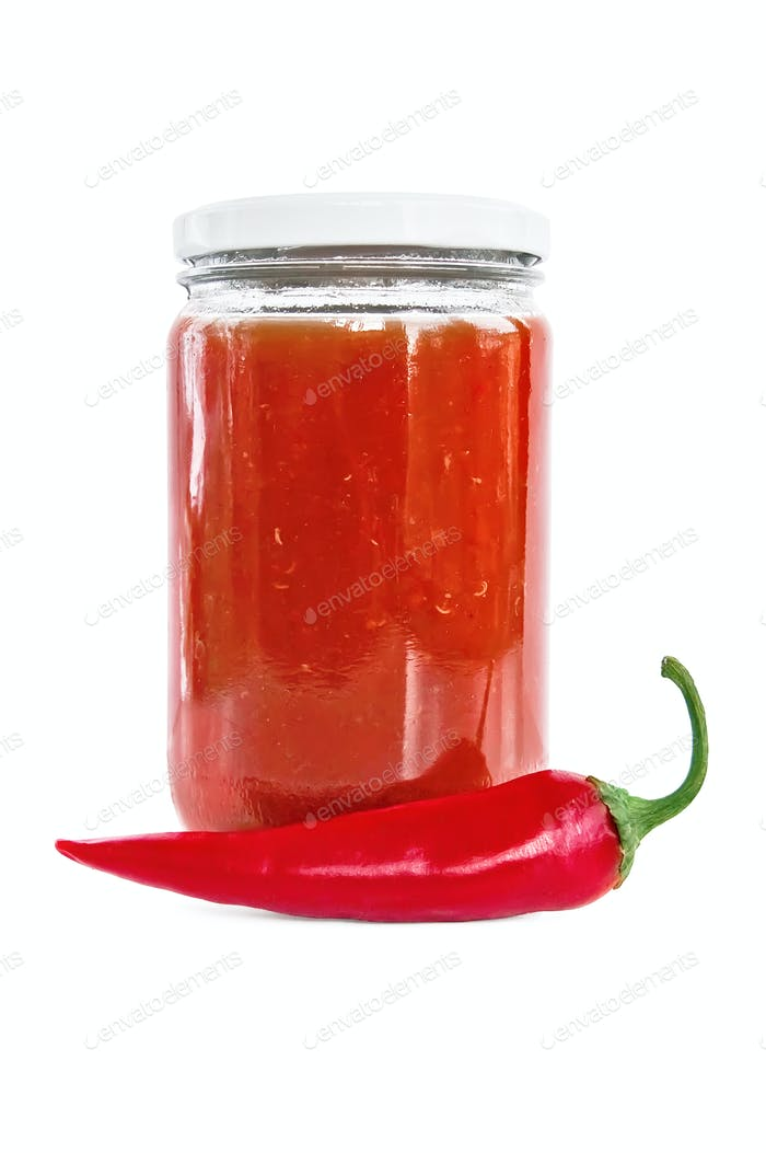 Tomato ketchup with hot pepper
