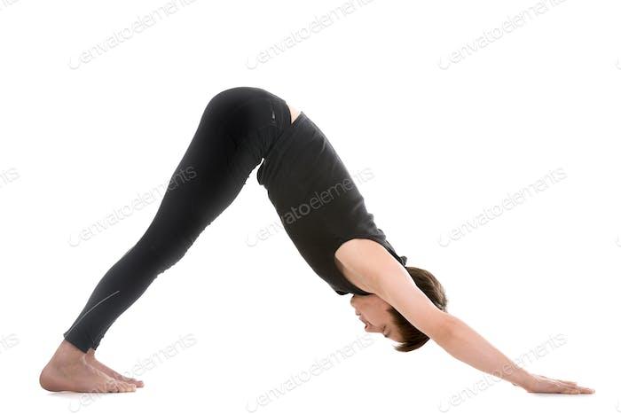 Yoga pose downward-facing dog