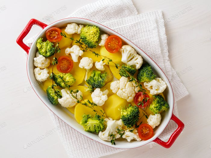 Diätetisches vegetarisches Gericht