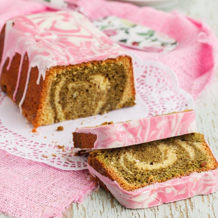 Kuchenmarmor mit Matcha