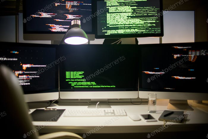 Workplace of Software Developer