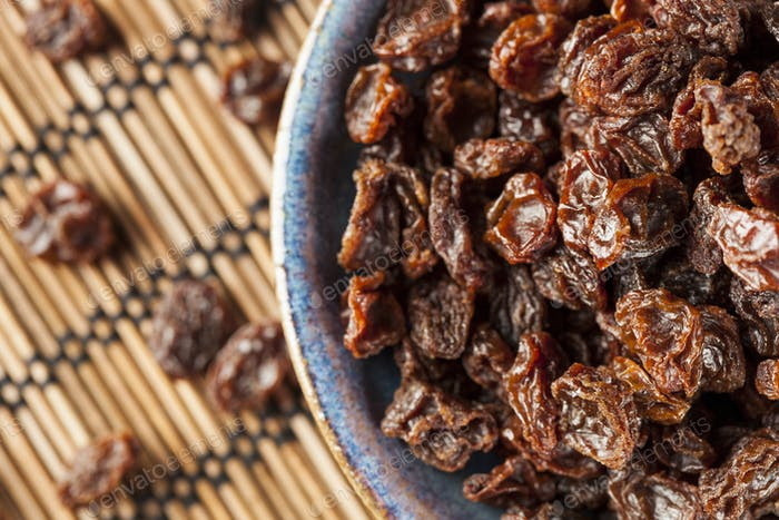 Organic Dried Raw Raisins