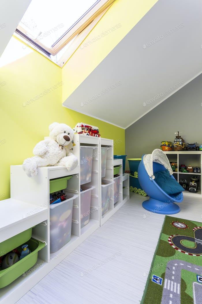 Unisex play room for kids