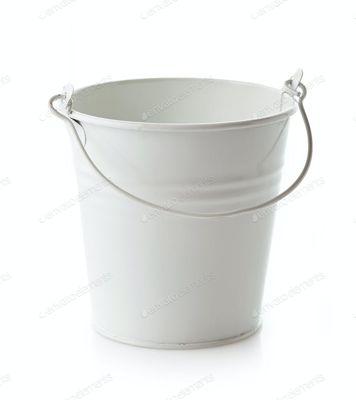 empty white bucket