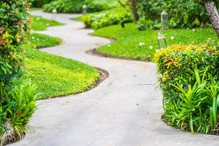 Walk or running path in the garden