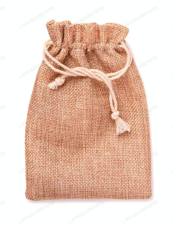 Burlap pouch