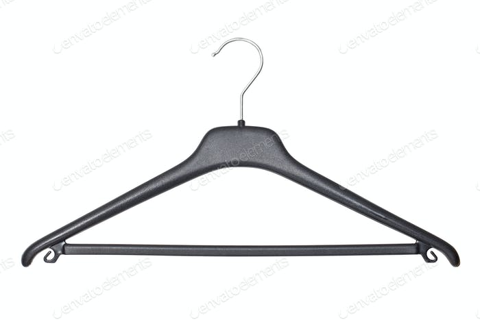 Coat hanger isolated on white