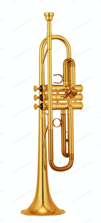 Trompeta isolated on white background