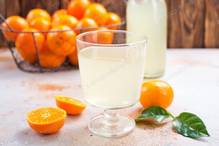 tangerines and tangerine juice