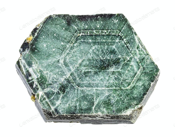 ungeschliffener Phlogopit (Rhombischer Glimmer) gestein isoliert