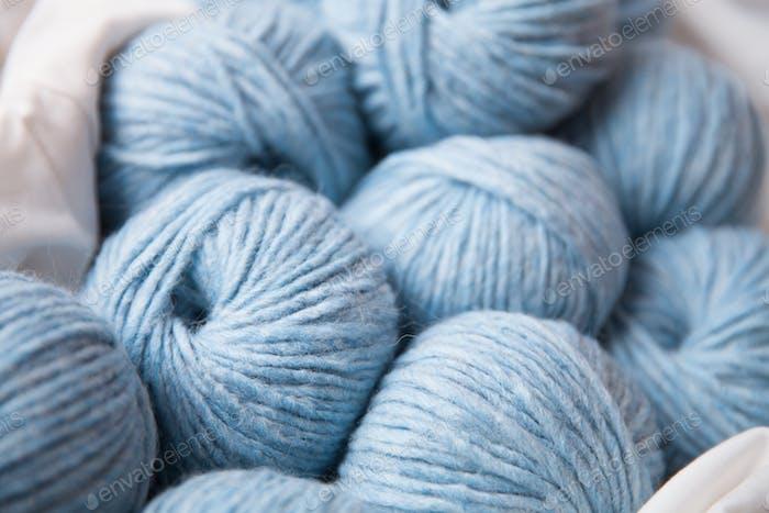 Yarn clews closeup
