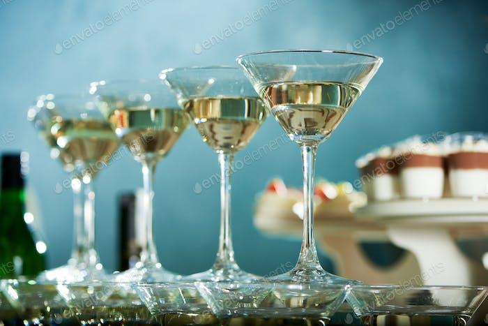 Perfectly polished martini glasses
