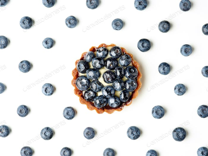 blueberry tart and blueberry pattern