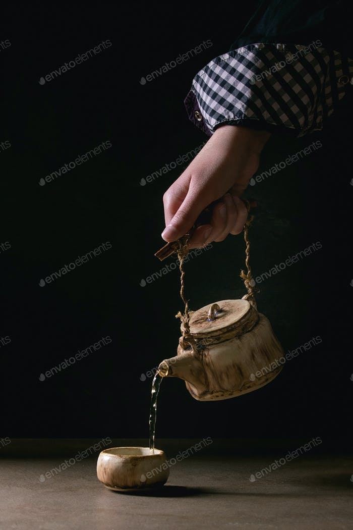 Ceramic handmade teapot