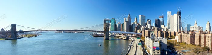 NYC Brooklyn Bridge panorama