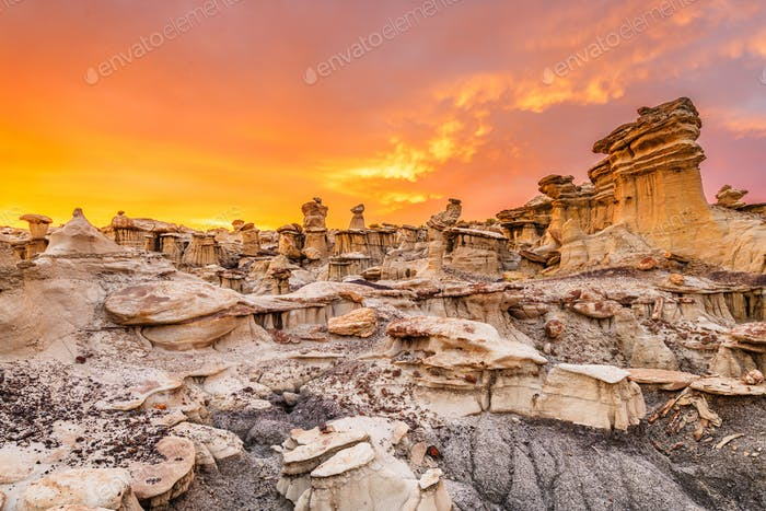 Bisti/De-Na-Zin Wilderness, New Mexico, USA