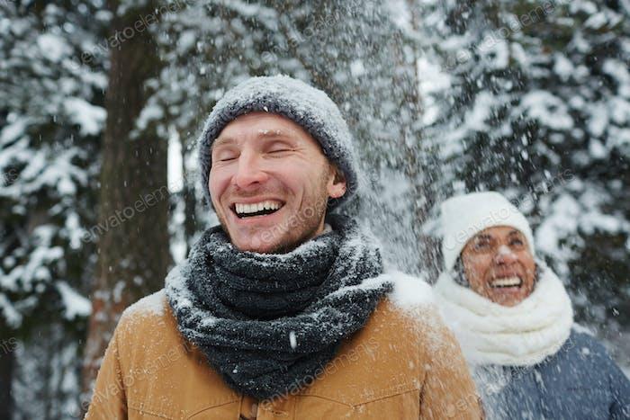 Fun in snowfall