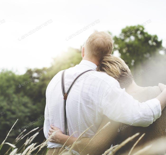 Paar Frau Mann Dating Entspannung Liebe Konzept