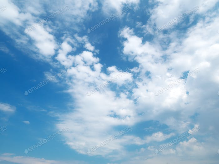 Blue skylight and clouds.