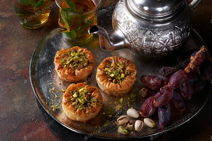 Middle Eastern sweets Phyllo nests.