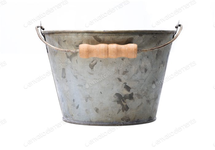 Zinc-coated bucket