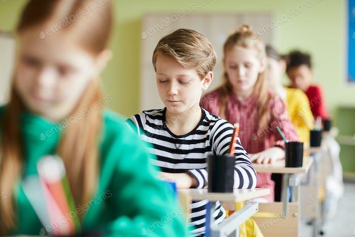 Schwierige Prüfung in der Grundschule