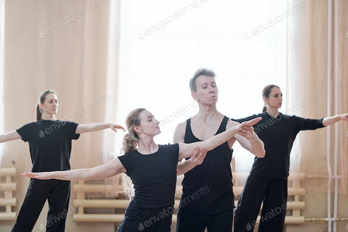 Rehearsal In Dance School
